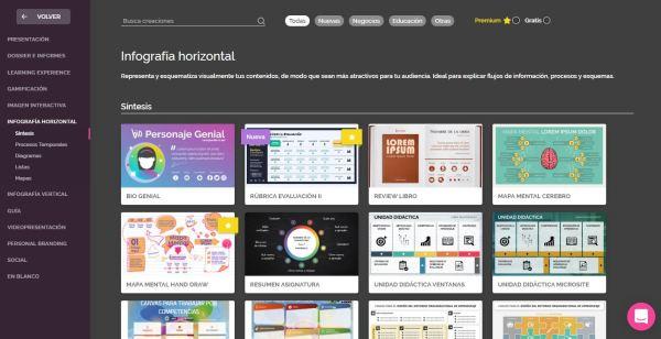 infografía horizontal